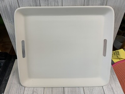 """2 Handled 16"""" Rectangle Serving Tray"""