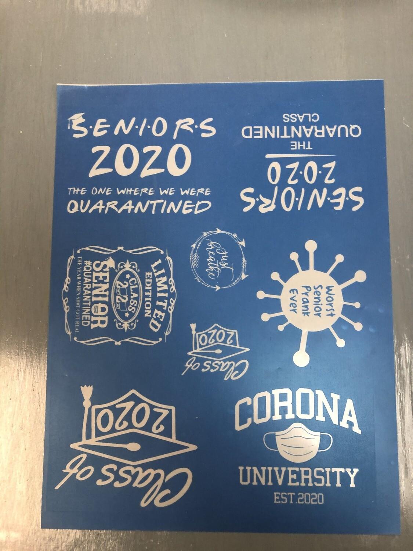 Coronavirus & Class of '20 Silkscreens