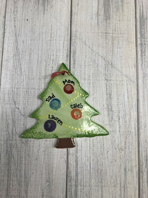 Flat Christmas Tree Ornament