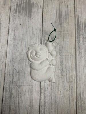 Sloth Flat Ornament