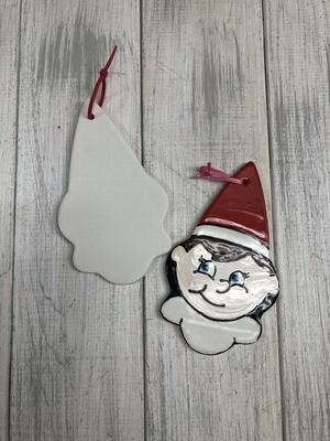 Elf Ornament - Flat