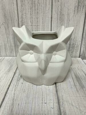 Faceted Owl Planter