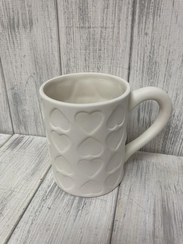 Imprinted Heart Mug
