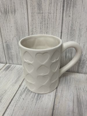 Imprinted Heart Mug