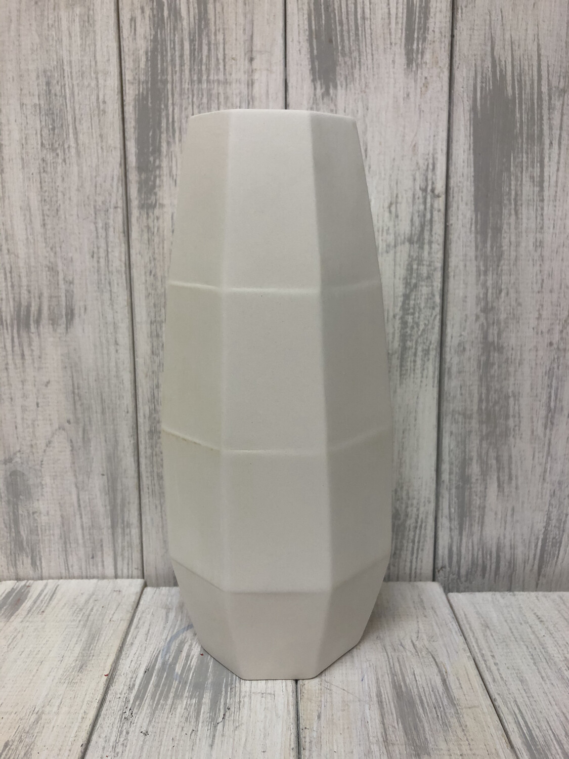 Tall Faceted Vase