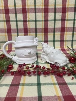 Christmas Vintage Snowman Mug To-Go Kit