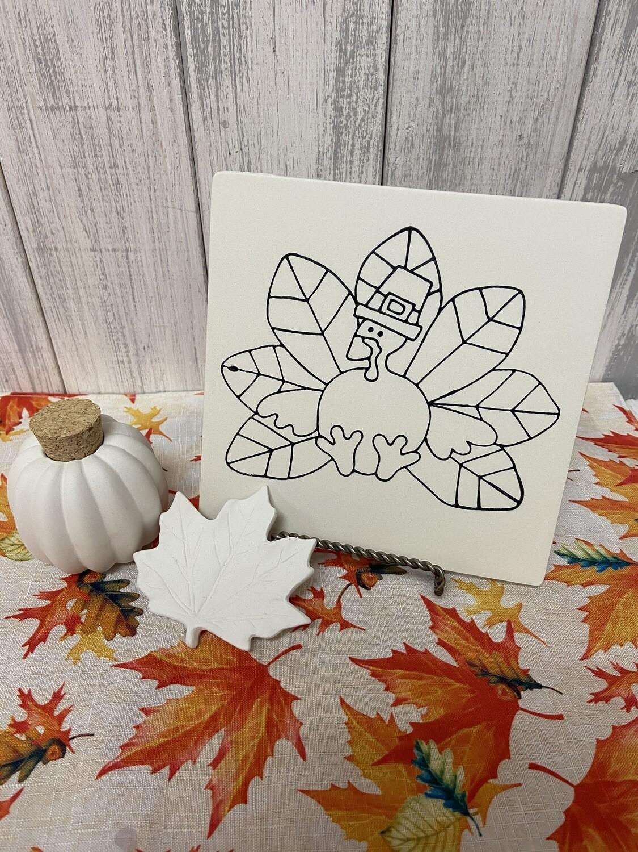 Thanksgiving Turkey Party Tile & Gourd Jar To-Go Kit