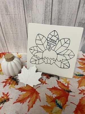 Thanksgiving Turkey Party Tile & Gourd Jar To-Go Kit