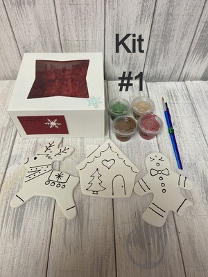 Hand Detailed Ornament To-Go Kits -3 pack