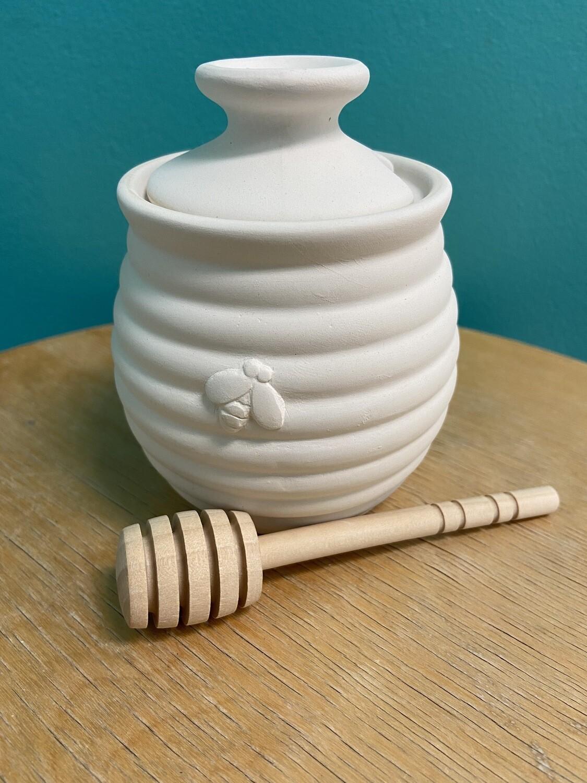 Honey Pot with Bee