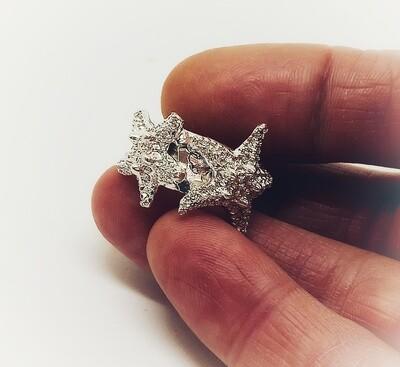 """""""Tu sei la mia Stella"""" Anello 3 stelle marine argento"""
