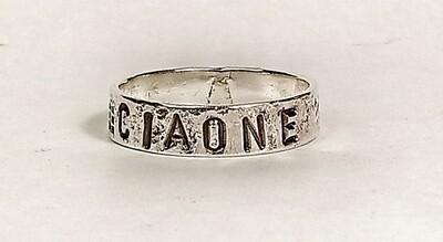 """Anello """"CIAONE"""", Argento 925, martellato."""