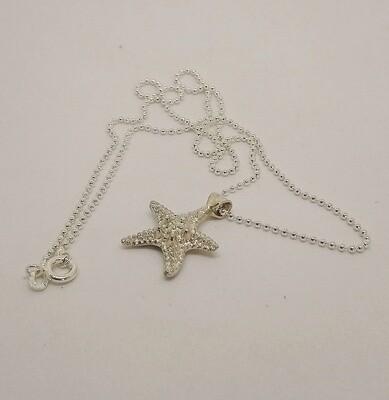 Stella Marina pendente e catena cm 45 argento 925