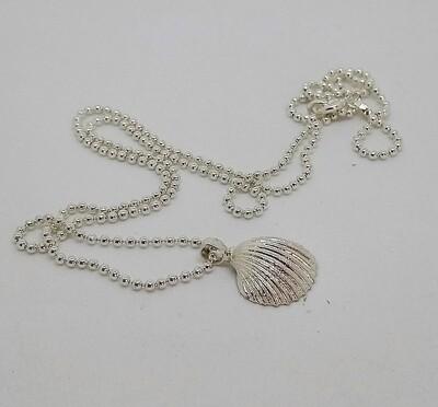 Cuore di Venere, conchiglia e catena cm 45, argento 925