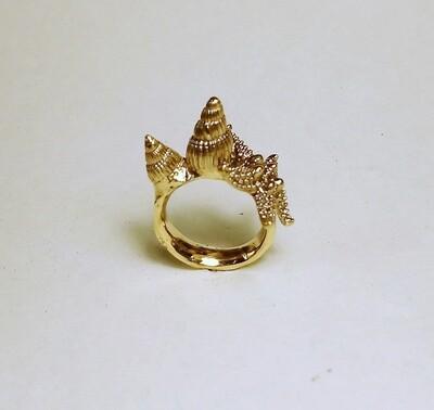 Tesori del Mare, anello a fascia martellata in bronzo