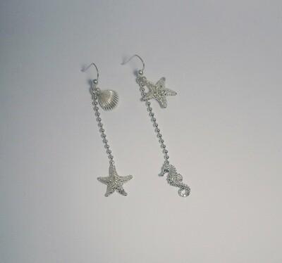 Coppia Orecchini, Tesori del Mare, doppio pendente.