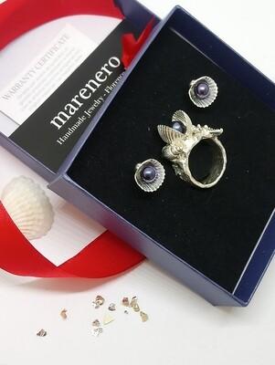 Set anello e orecchini perle