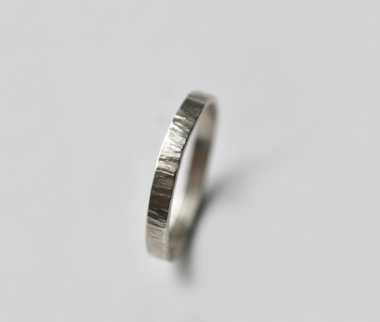 Anneau Martelé en argent largeur 3 mm