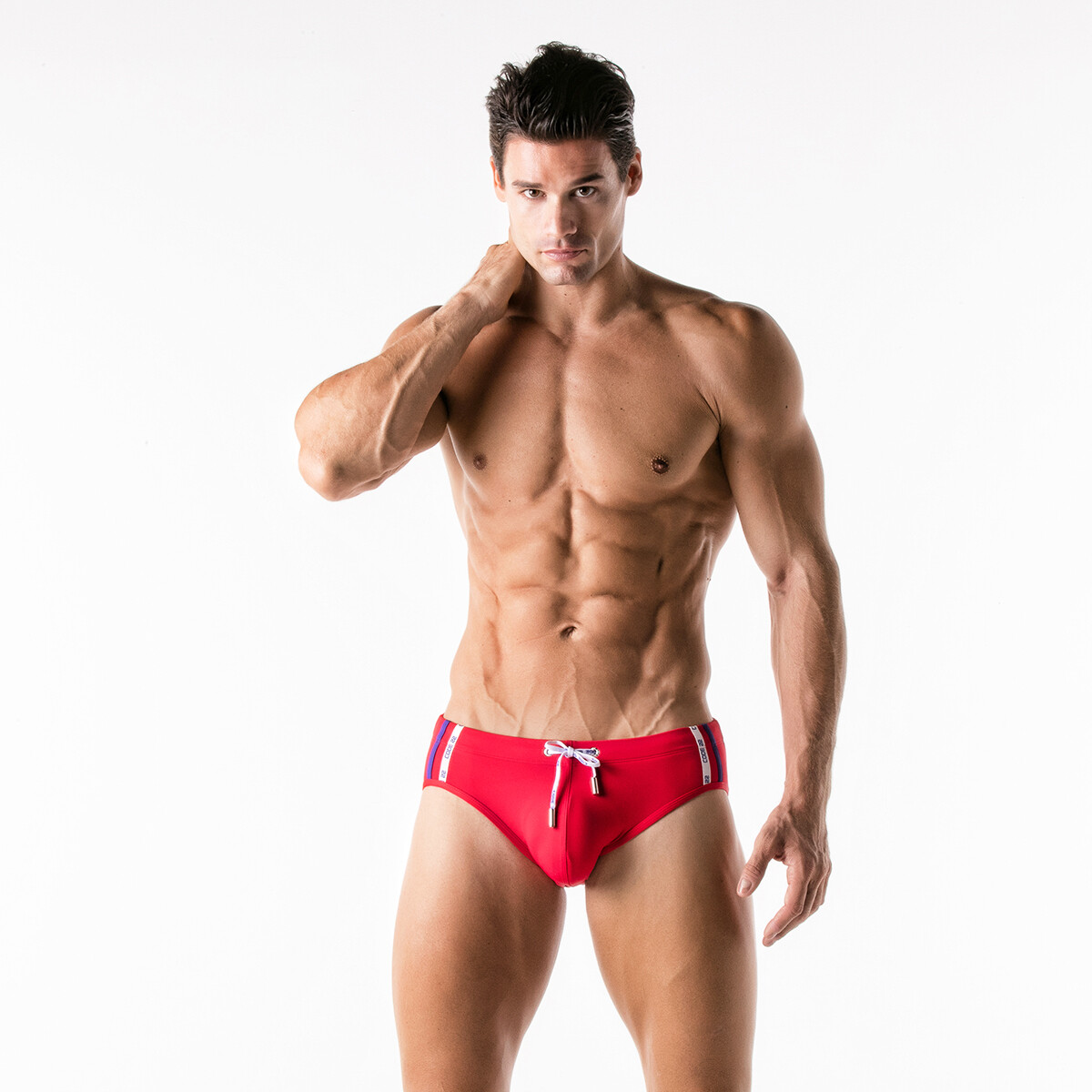 CODE22  ICONIC SWIMSLIP RED