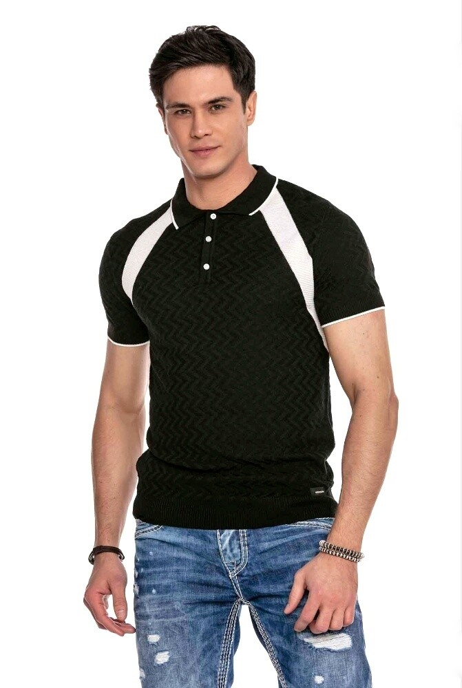 Cipo&Baxx CT652 Black Polo (Knitwear)