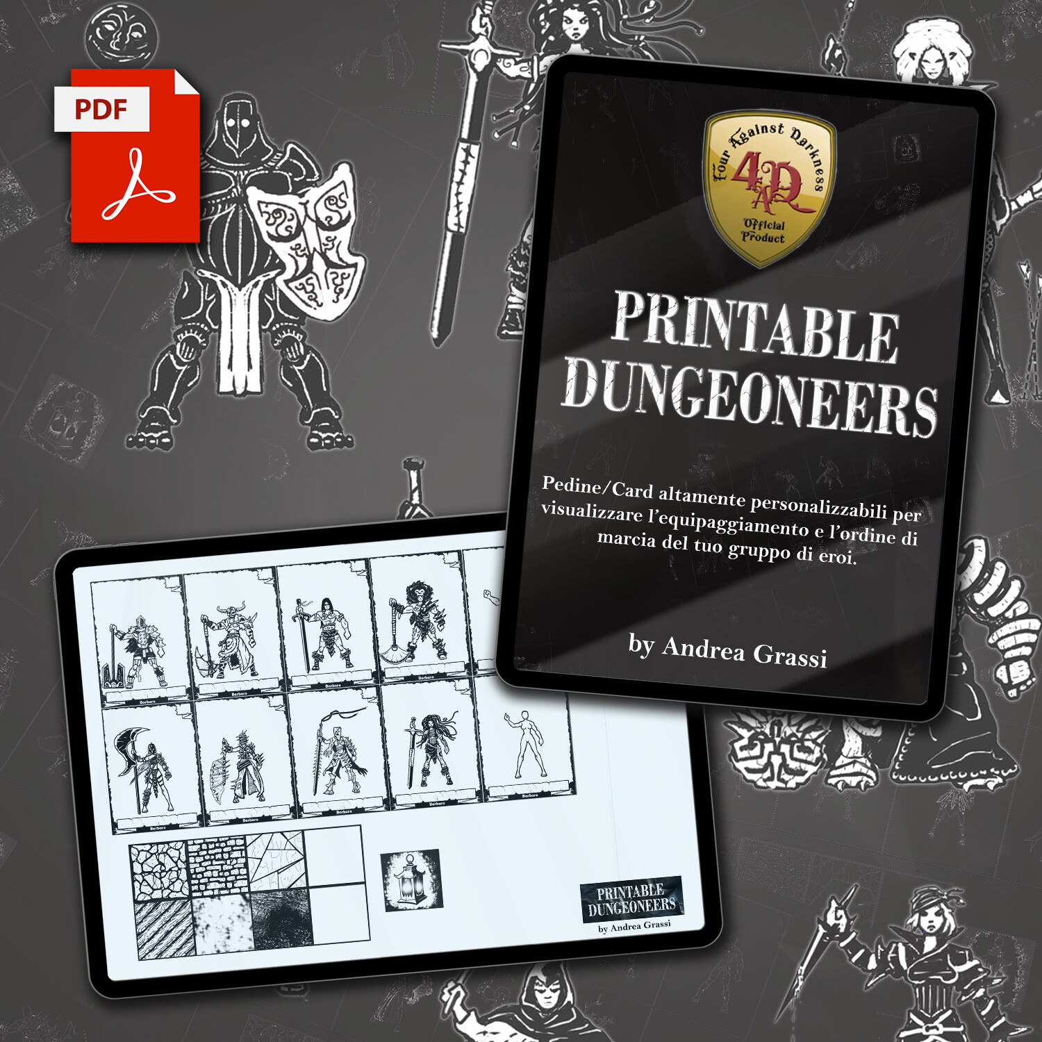 "STILL HOT! ""Printable Dungeoneers Set 1 - Classi Base"" - Accessorio (Febbraio 2021)"