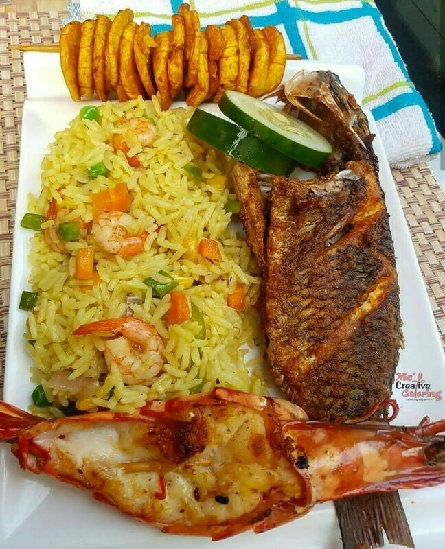 Fried Rice (Gebakken rijst met gemengde groenten) - Jolly box