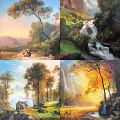 Пакет материалов «Романтические пейзажи»