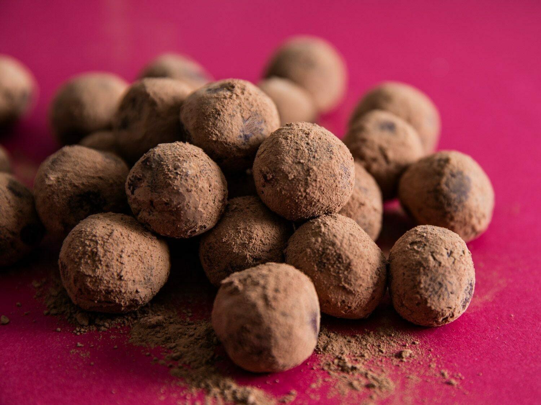 カルダモン風味のチョコレートガナッシュトリュフ Cardamom Chocolate Ganache Truffles