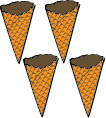 Just Cones, Waffle - Pack of 4 or 8