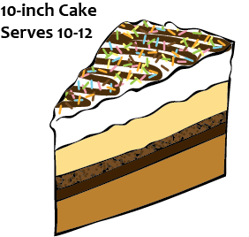 10 in Ice Cream Cake - Order in advance or choose 2 toppings to add to our vanilla bean/gourmet chocolate stock cakes (limited supply).