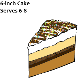 6 in Ice Cream Cake - Order in advance or choose 2 toppings to add to our vanilla bean/gourmet chocolate stock cakes (limited supply).