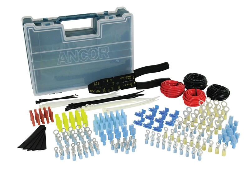 225 Piece Complete Electrical Repair Kit with Strip/Crimp Tool
