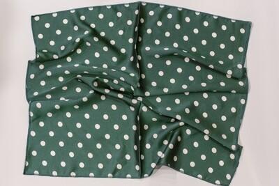 Green Polkadot Scarf