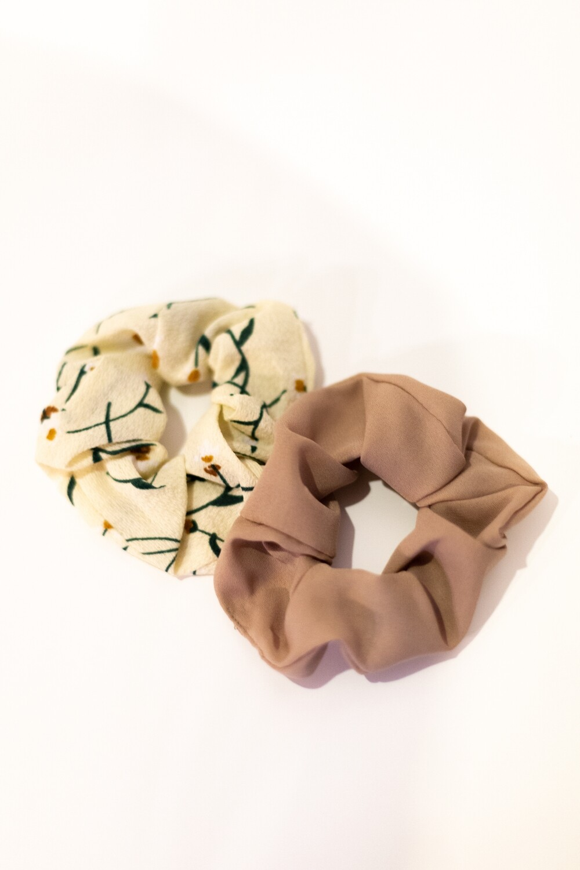 Nude Scrunchie Set