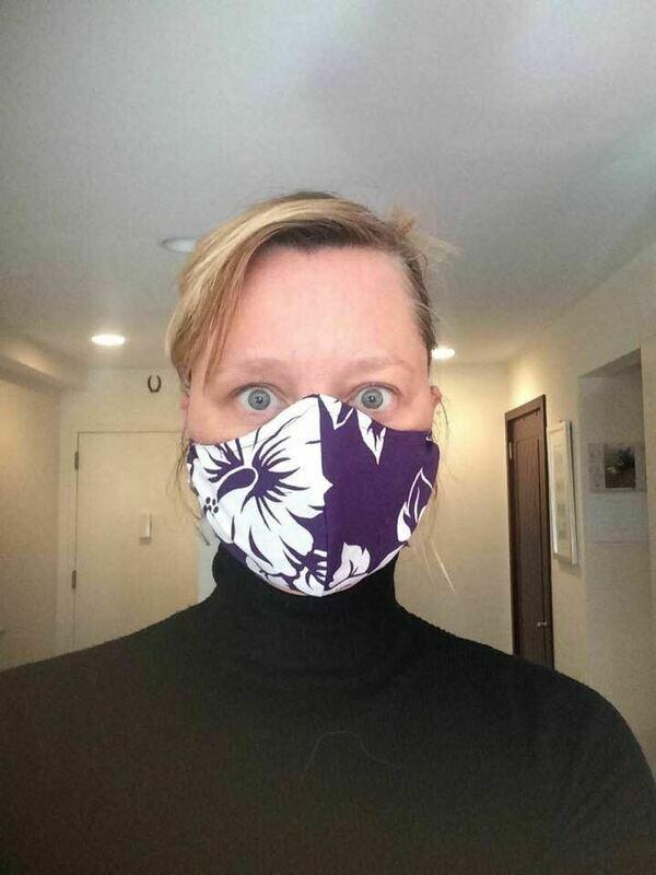 Face covering - B&W Chevron