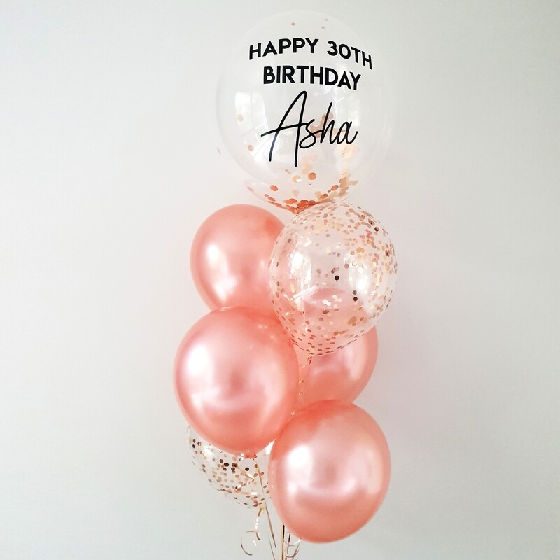 Custom Bubble Balloon Bouquet