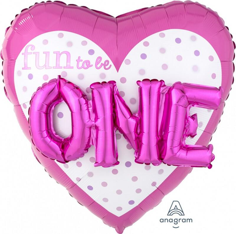 One Heart Foil Balloon