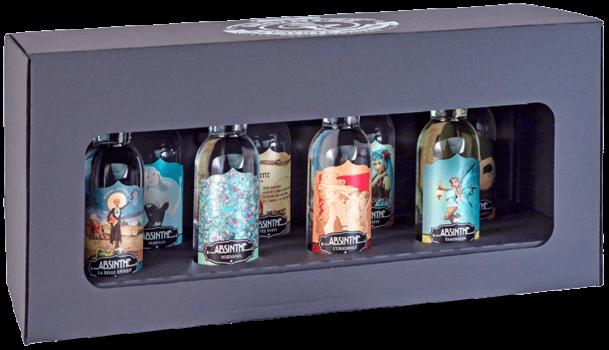 Absinthe Degustations-Set La Valote 8x4cl