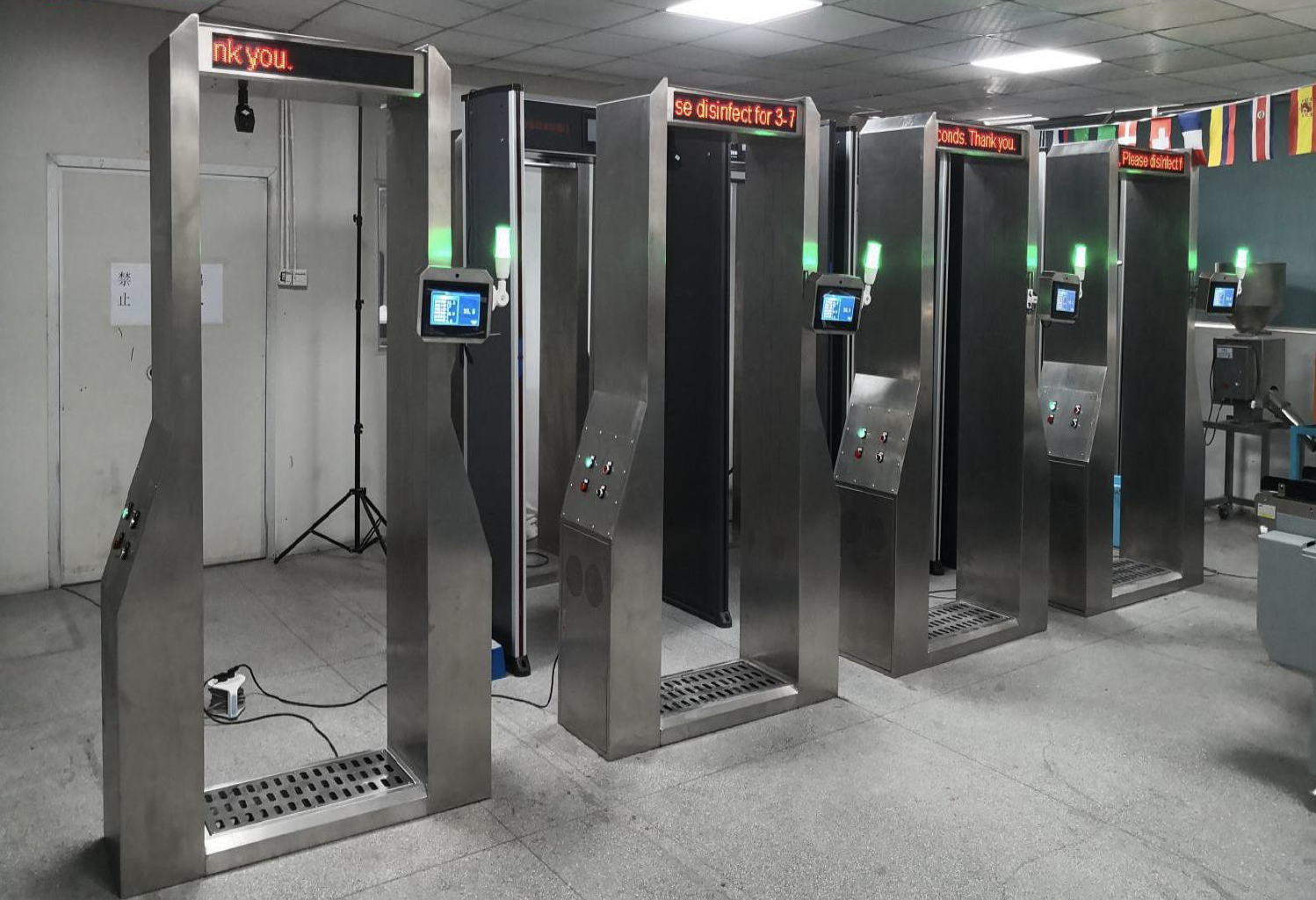 Disinfection Gate System with Touchless temperature Reader