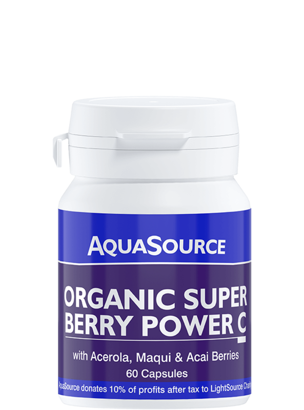 AquaSource Органична Супер Плодова енергия C - 60 капсули