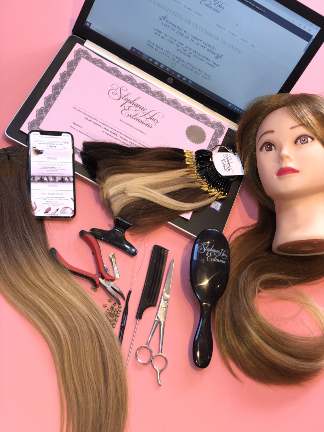 4 Method Online Hair Extensions Training Course