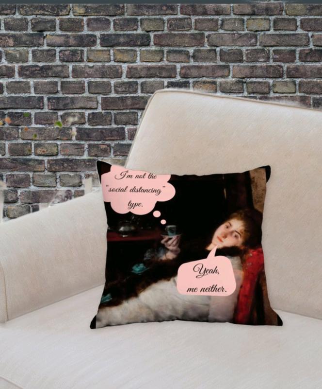 Social Distancing Decorative Throw Pillow