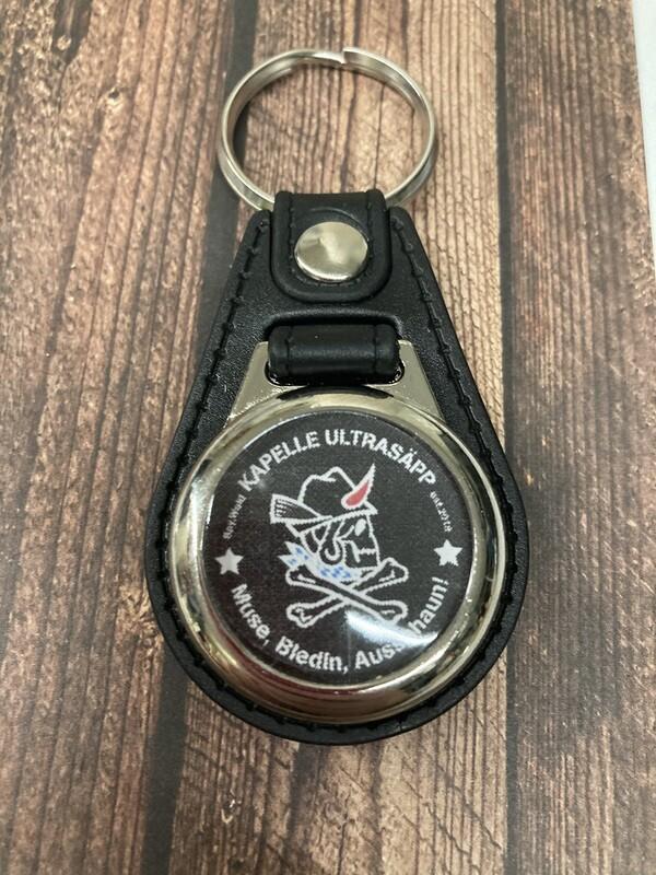 Ultrasäpp Leder-Schlüsselanhänger mit Einkaufschip