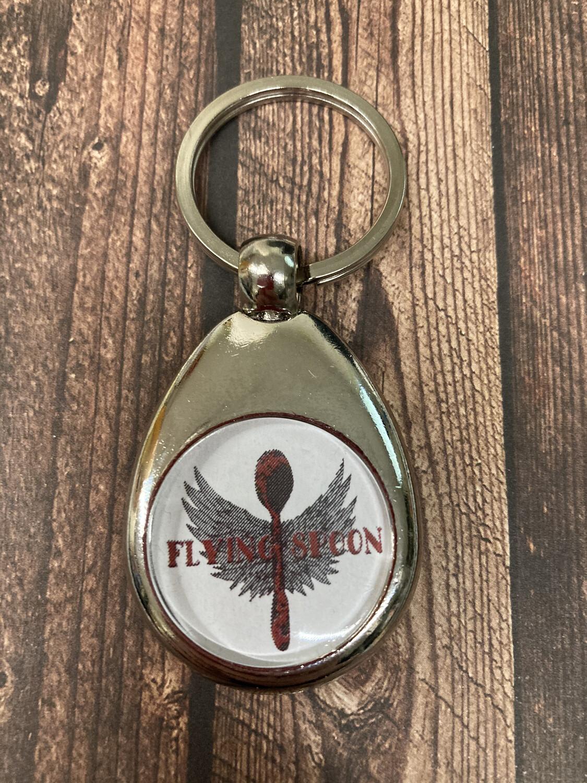 Schlüsselanhänger Flying Spoon mit Einkaufschip