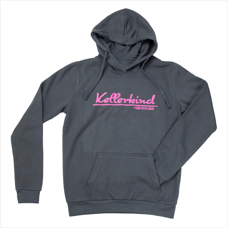 Hoodi - UG1 Kellerkind - Grau / Pink (Women)