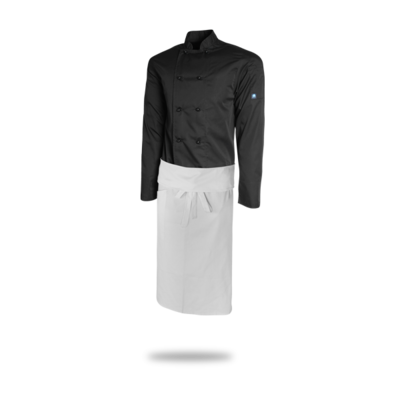 Tapered Apron - White