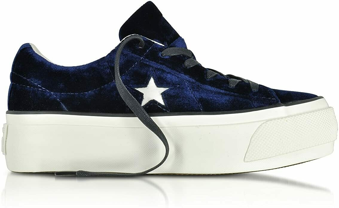 Converse Sneakers Donna Velluto Blu