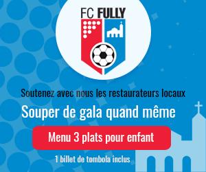 Menu de soutien FC Fully 2021 (enfant)