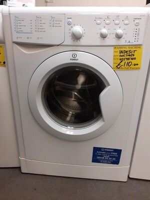 INDESIT  WASHING MACHINE A CLASS  RATED 7KG IWC71450