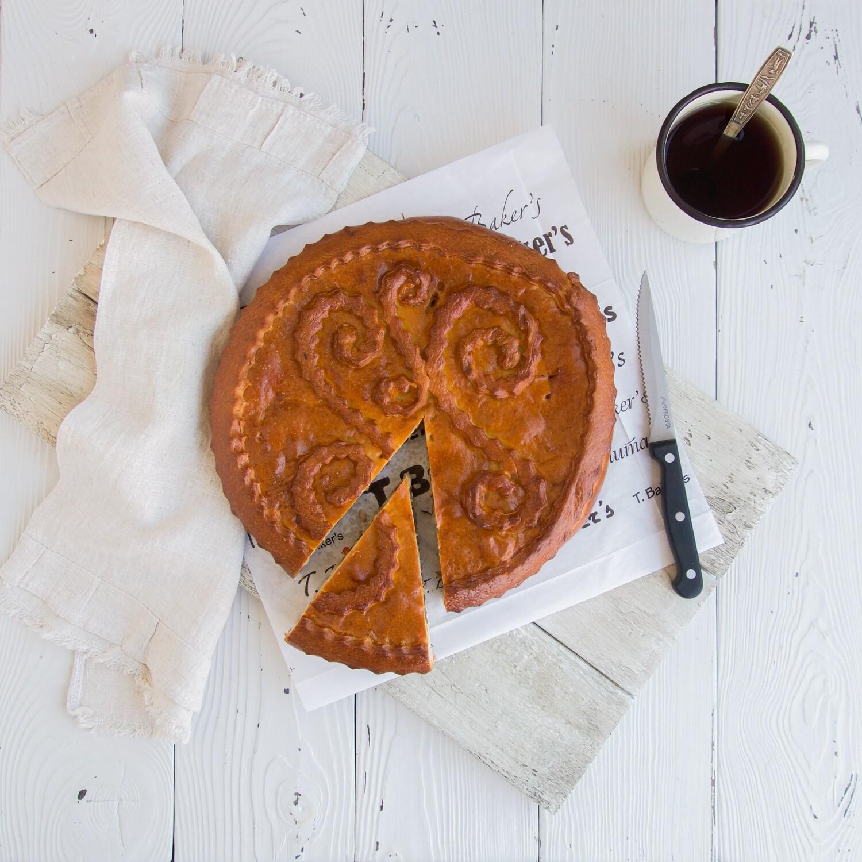Пирог со свининой, баклажаном и перцем